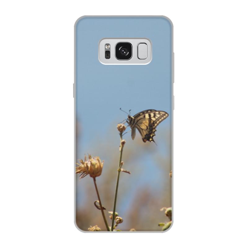 Чехол для Samsung Galaxy S8, объёмная печать Printio Бабочка махаон издательство махаон драконы
