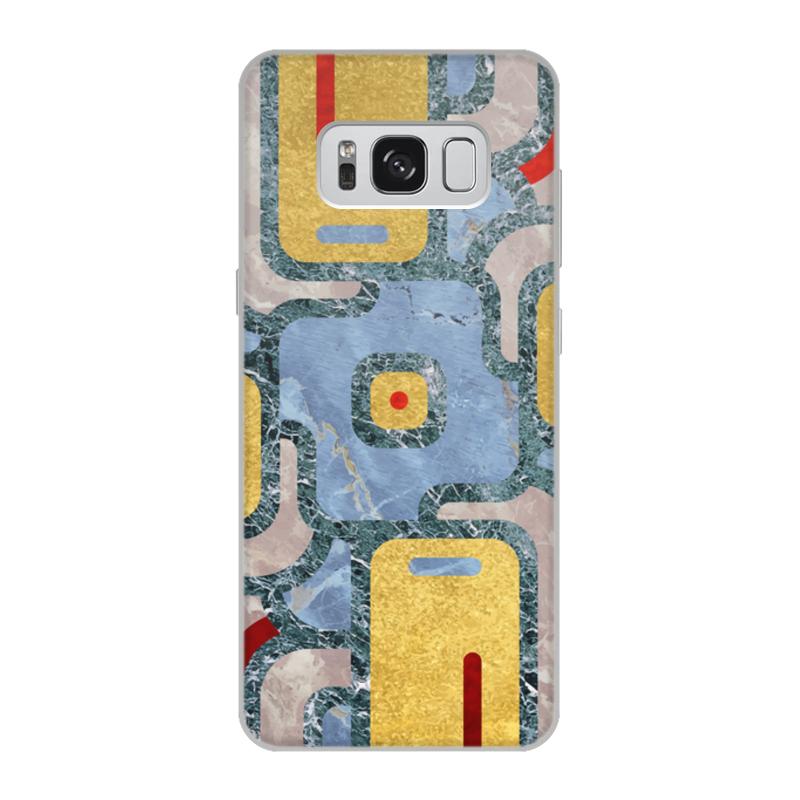 Чехол для Samsung Galaxy S8, объёмная печать Printio Мандала богатства (золото и мрамор) чехол для samsung galaxy s6 edge объёмная печать printio мандала изобилия золото и мрамор