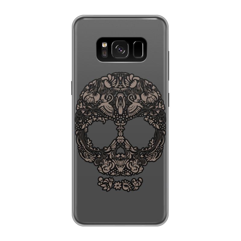 Чехол для Samsung Galaxy S8, объёмная печать Printio Череп цветочный орнамент printio чехол для samsung galaxy s8 силиконовый
