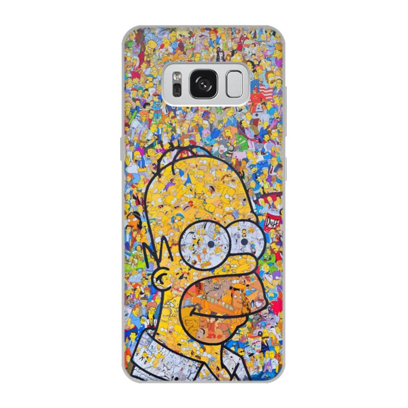Чехол для Samsung Galaxy S8 объёмная печать Printio Симпсоны