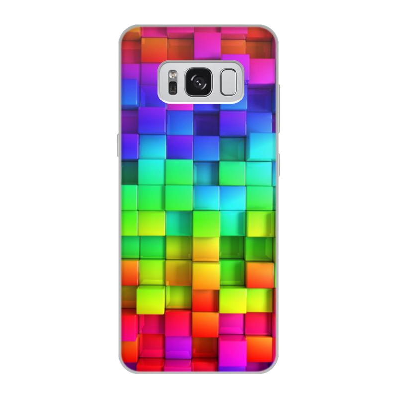 Чехол для Samsung Galaxy S8, объёмная печать Printio Яркие краски mooncase ультратонкий перо печать shell светящиеся краски мягкой тпу дело прикрытия wileyfox swift