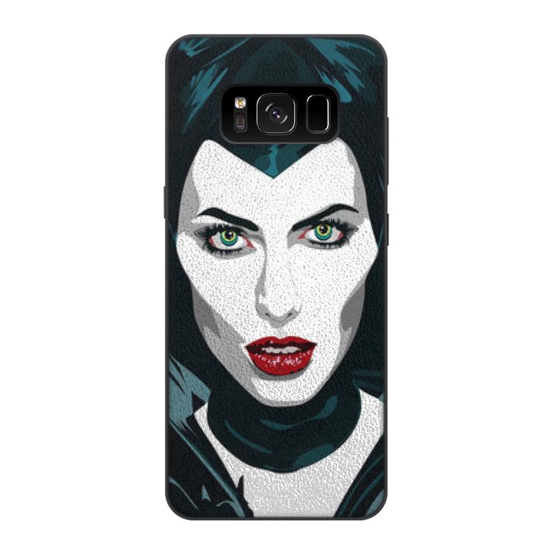 цена на Чехол для Samsung Galaxy S8, объёмная печать Printio Maleficent (анджелина джоли)