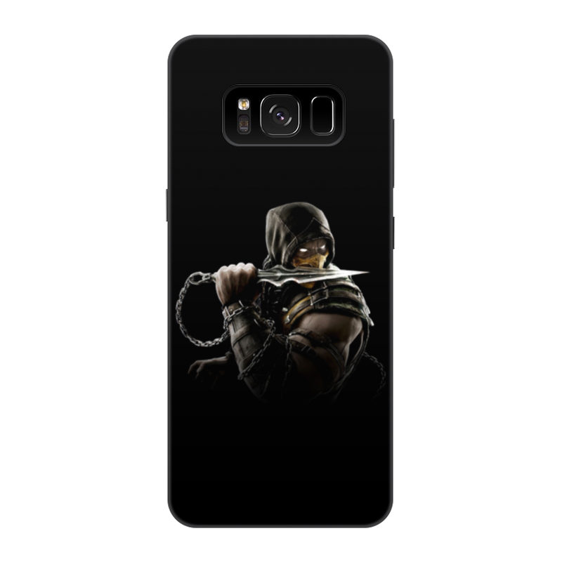 Чехол для Samsung Galaxy S8, объёмная печать Printio Mortal kombat (scorpion) чехол для samsung galaxy s6 edge объёмная печать printio mortal kombat scorpion