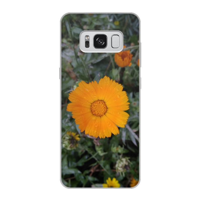 цена на Чехол для Samsung Galaxy S8, объёмная печать Printio Летние цветы