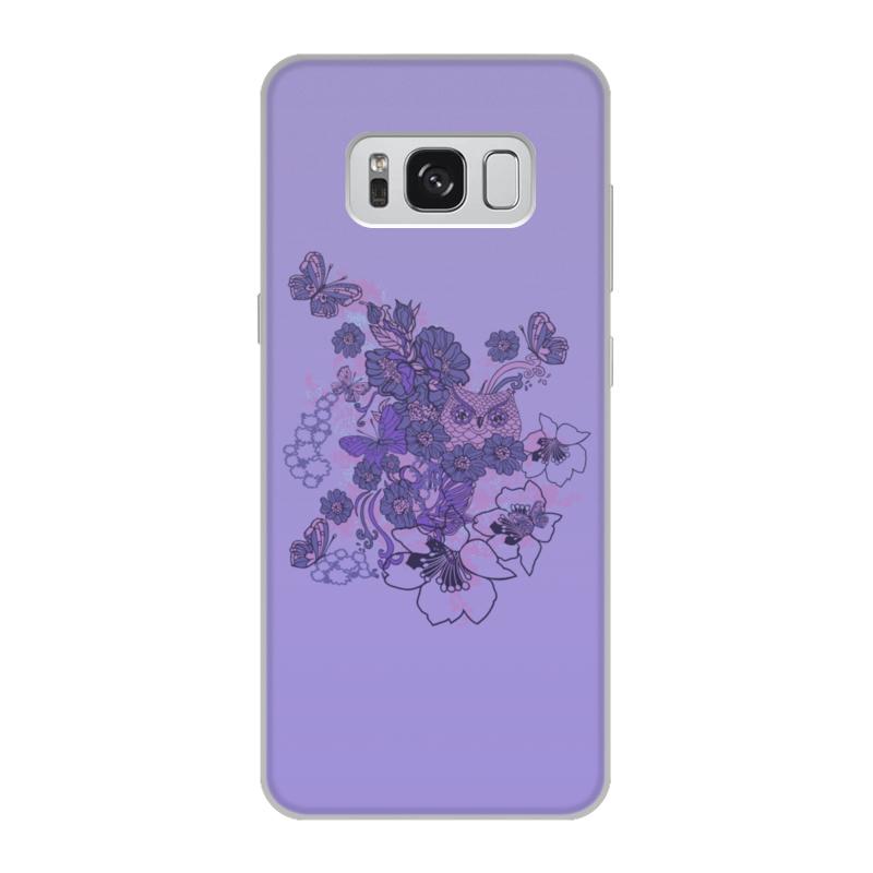 Чехол для Samsung Galaxy S8, объёмная печать Printio Сова в цветах чехол для iphone 5 printio сова в цветах
