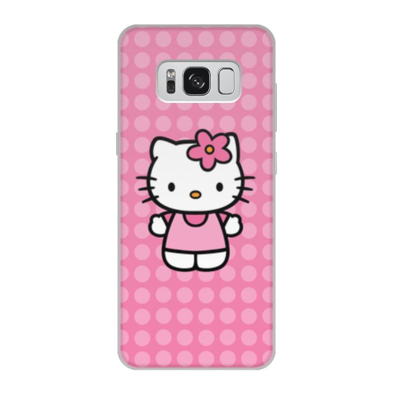 Чехол для Samsung Galaxy S8, объёмная печать Printio Kitty в горошек леггинсы printio kitty в горошек