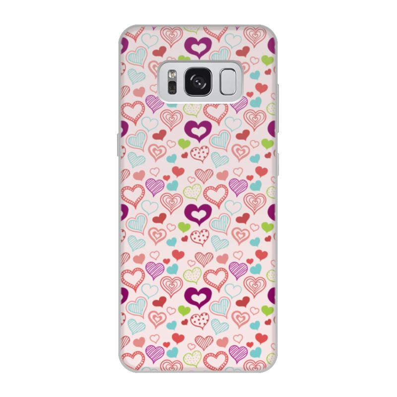 Чехол для Samsung Galaxy S8, объёмная печать Printio Сердечки чехол для samsung galaxy s8 объёмная печать printio cycles perfecta альфонс муха