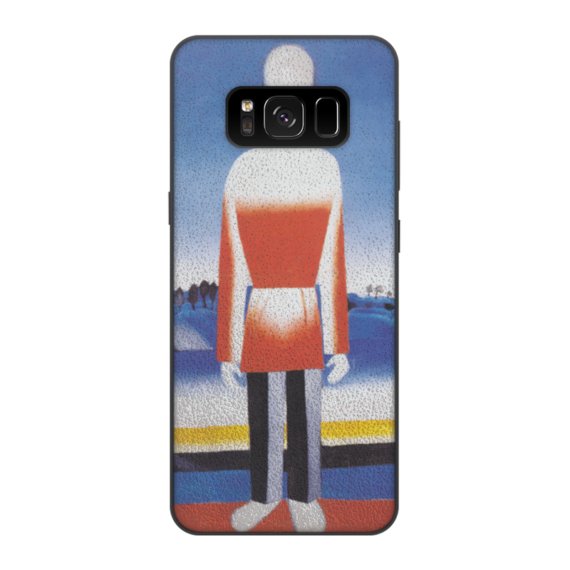 Чехол для Samsung Galaxy S8, объёмная печать Printio Человек в супрематическом ландшафте samsung otkajetsia ot pentile diamond v polzy rgb matricy v galaxy s8