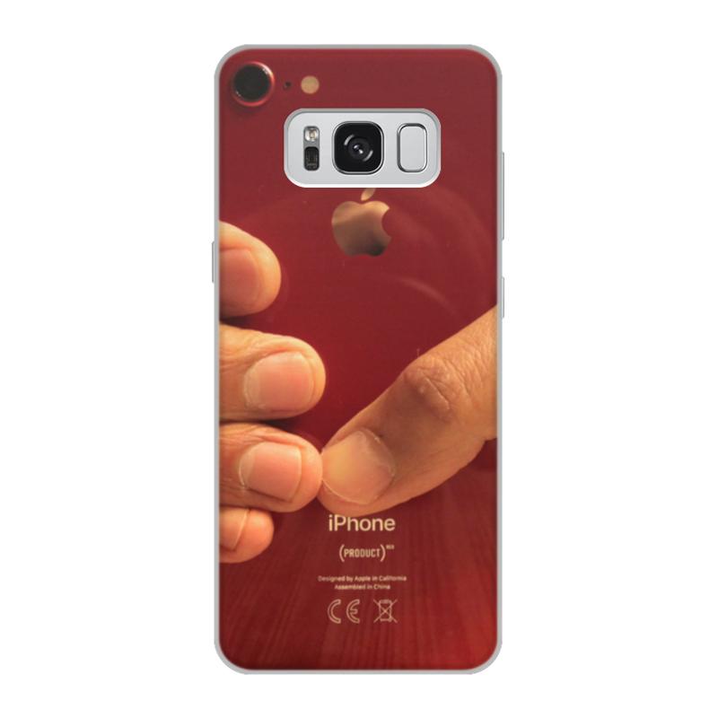 Чехол для Samsung Galaxy S8, объёмная печать Printio Iphone red