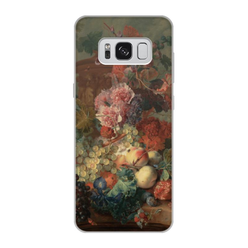 Чехол для Samsung Galaxy S8, объёмная печать Printio Цветы (ян ван хёйсум) борцовка с полной запечаткой printio цветы ян ван хёйсум