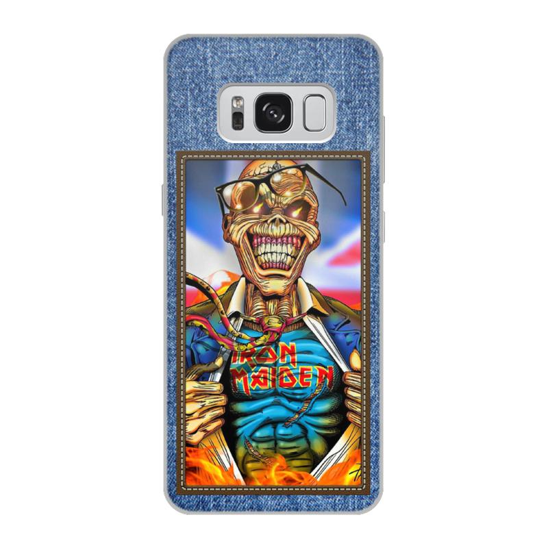 Чехол для Samsung Galaxy S8, объёмная печать Printio Iron maiden patch 3pcs lot high quality carton rosin soldering iron soft solder welding fluxes for rework soldering iron