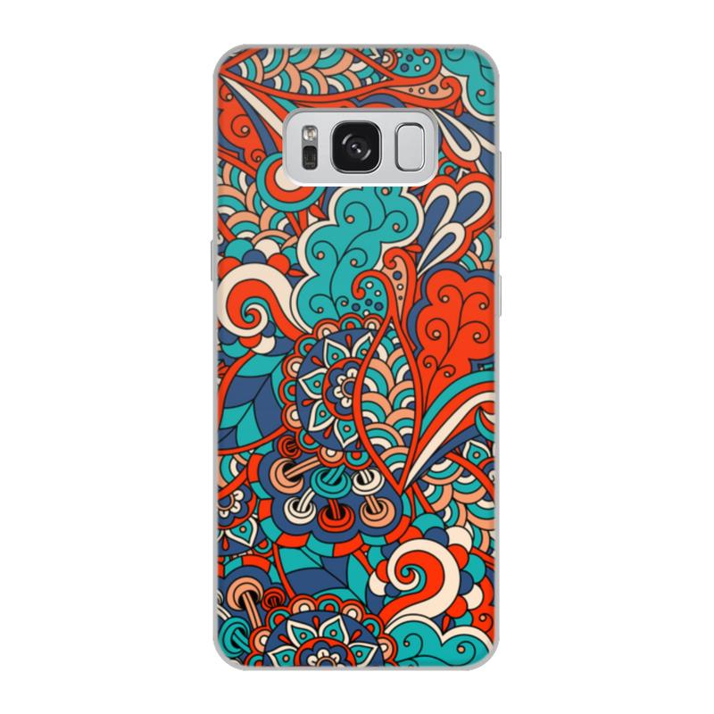 Чехол для Samsung Galaxy S8, объёмная печать Printio Дудл узор чехол для samsung galaxy s8 объёмная печать printio cycles perfecta альфонс муха