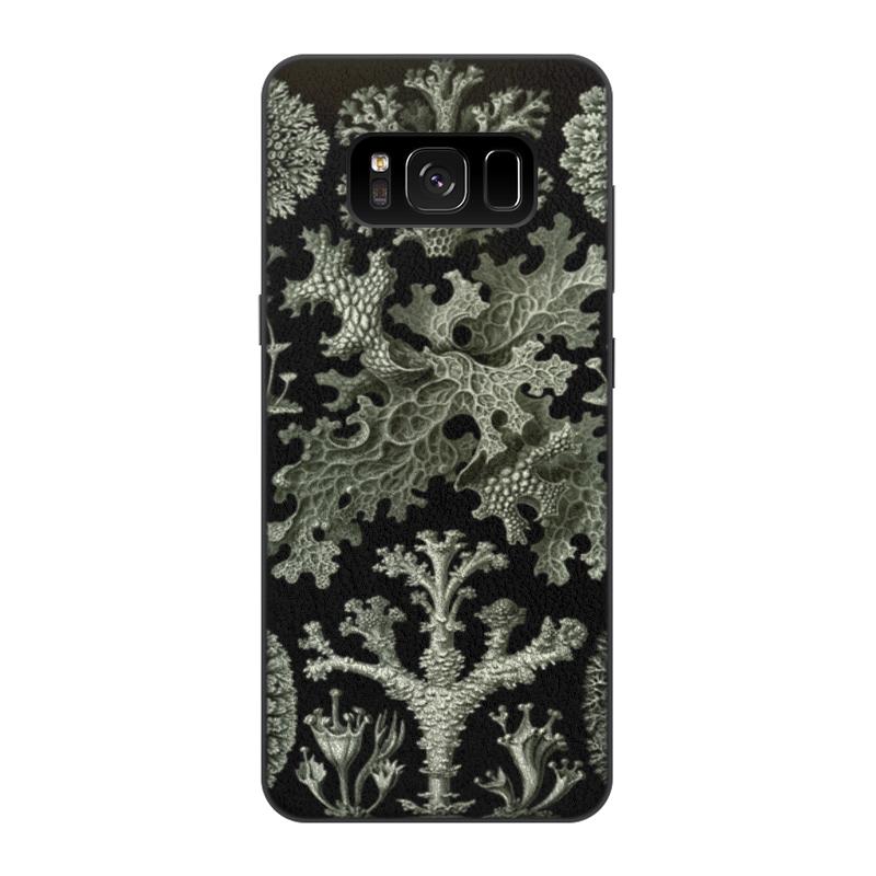 Чехол для Samsung Galaxy S8, объёмная печать Printio Лишайники (lichenes, ernst haeckel)