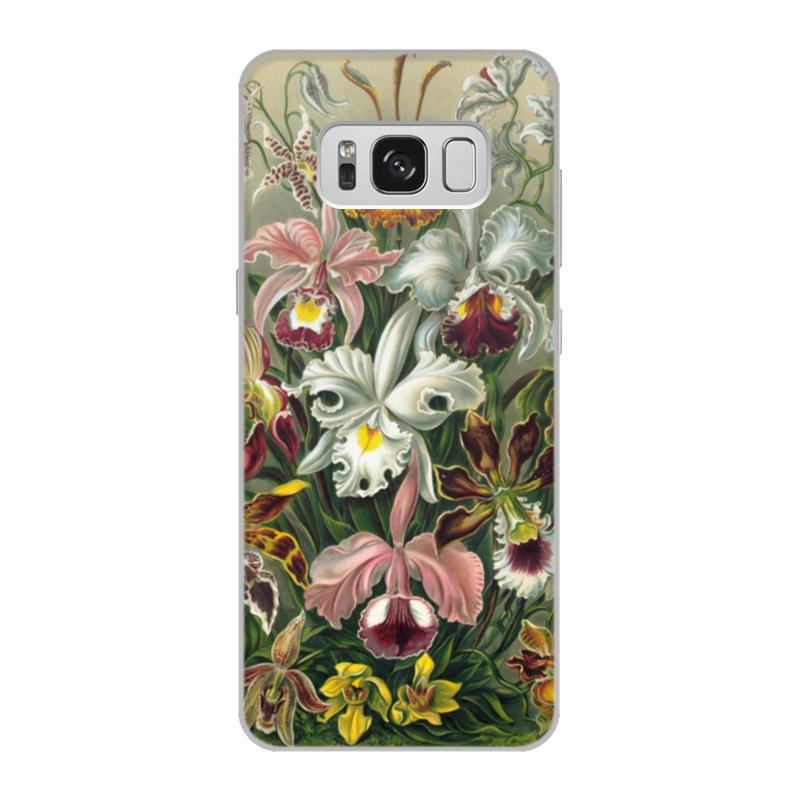 Чехол для Samsung Galaxy S8, объёмная печать Printio Орхидеи (orchideae, ernst haeckel) самые дешевые орхидеи в москве
