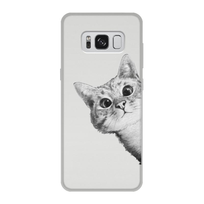 Чехол для Samsung Galaxy S8, объёмная печать Printio Любопытный кот стоимость