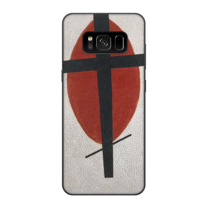 Чехол для Samsung Galaxy S8, объёмная печать Printio Супрематизм (черный крест на красном овале)