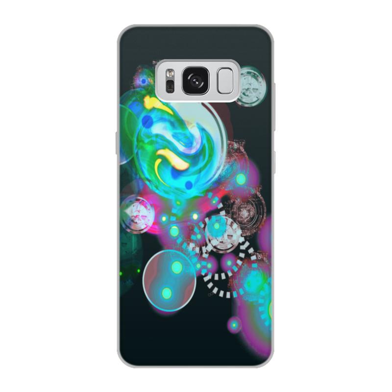 Чехол для Samsung Galaxy S8, объёмная печать Printio Галактика mooncase ультратонкий перо печать shell светящиеся краски мягкой тпу дело прикрытия wileyfox swift