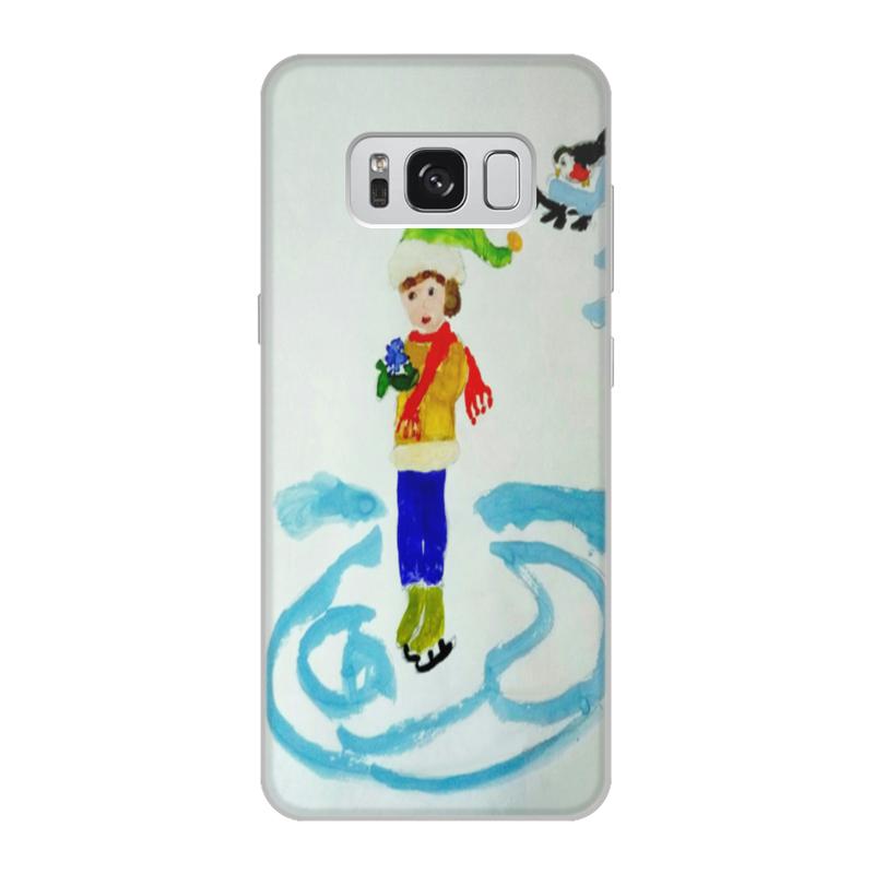 Чехол для Samsung Galaxy S8, объёмная печать Printio Зимние забавы зимние забавы раскраска