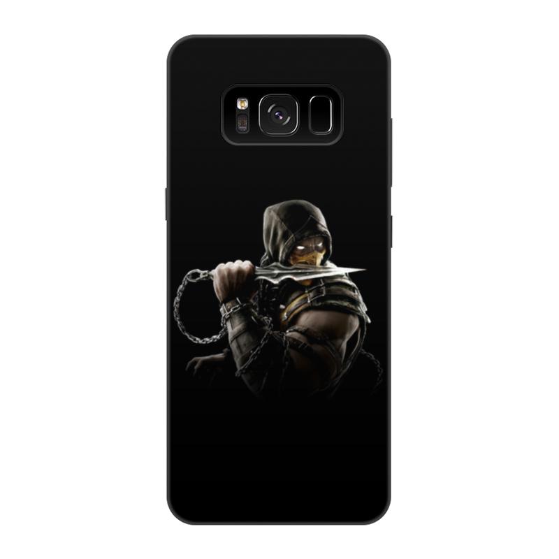 Чехол для Samsung Galaxy S8, объёмная печать Printio Mortal kombat (scorpion)