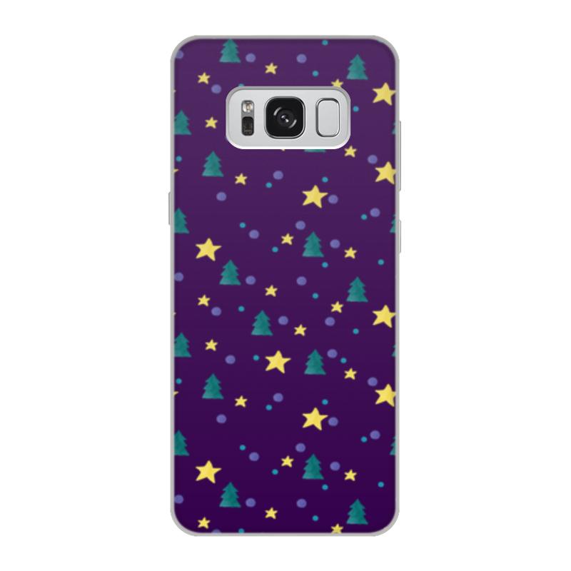 Чехол для Samsung Galaxy S8, объёмная печать Printio Елки и звезды