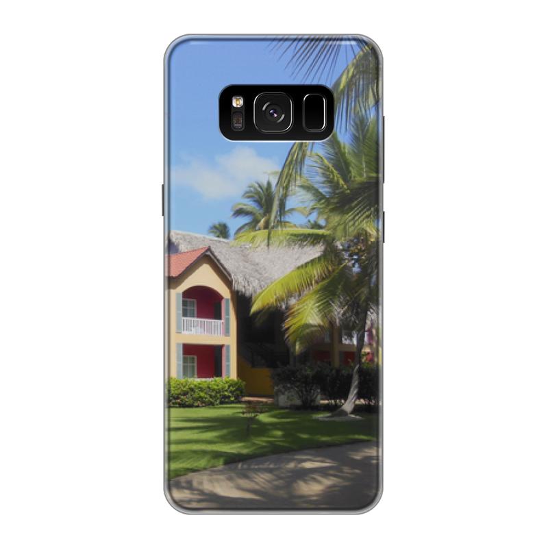 Чехол для Samsung Galaxy S8, объёмная печать Printio доминикана. тропический сад чехол силиконовый последний богатырь для samsung s8