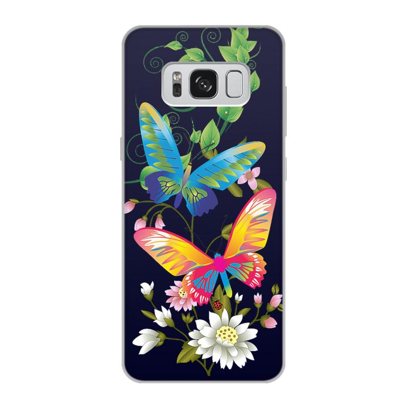 Чехол для Samsung Galaxy S8, объёмная печать Printio Бабочки фэнтези золотые бабочки дизайн кожа pu откидная крышка бумажника карты держатель чехол для samsung t580