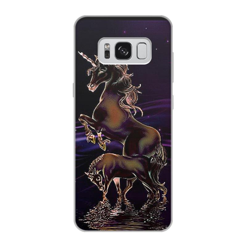 Чехол для Samsung Galaxy S8, объёмная печать Printio Единорог чехол для samsung galaxy s8 объёмная печать printio единорог радужный