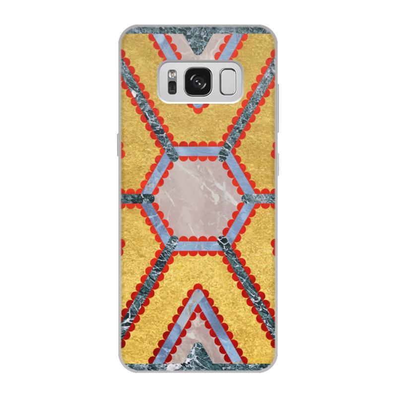 Чехол для Samsung Galaxy S8, объёмная печать Printio Мандала изобилия (золото и мрамор)