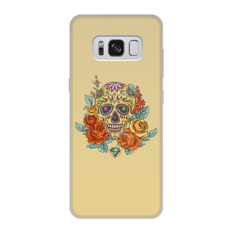 Чехол для Samsung Galaxy S8, объёмная печать Printio Череп чехол для samsung galaxy s5 printio череп художник
