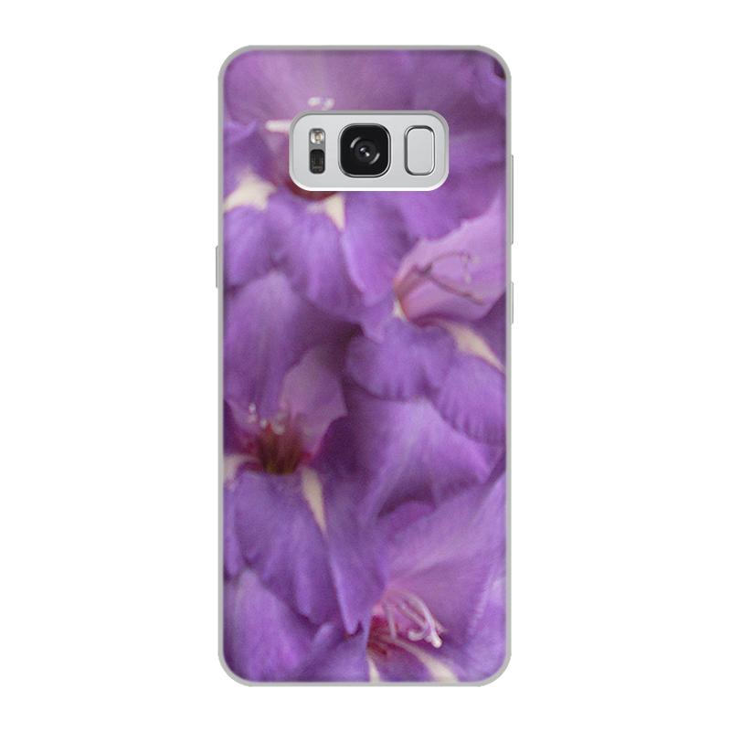 Чехол для Samsung Galaxy S8, объёмная печать Printio Сиренево-фиолетовая фантазия. covers фиолетовая длинная шерстяная крышка 02