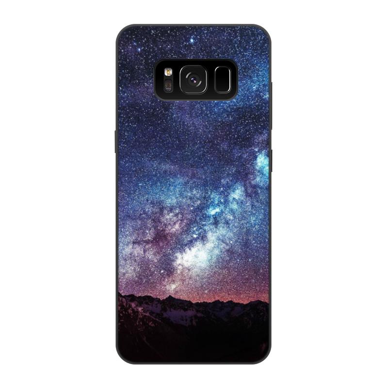 Чехол для Samsung Galaxy S8, объёмная печать Printio Космос цена