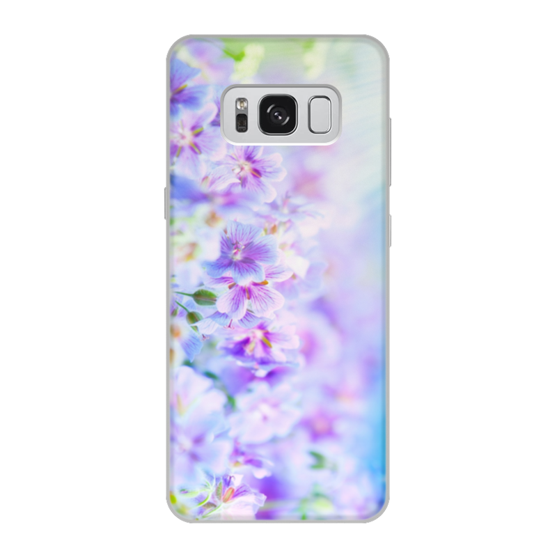 Чехол для Samsung Galaxy S8, объёмная печать Printio Цветы чехол для samsung galaxy s8 объёмная печать printio единорог радужный
