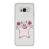 """Чехол для Samsung Galaxy S8, объёмная печать """"Розовый поросёнок с бенгальскими огнями"""" - арт, счастье, свин, розовый поросенок, бенгальский огонь"""