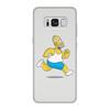 """Чехол для Samsung Galaxy S8, объёмная печать """"Гомер Симпсон"""" - гомер, homer, гомер симпсон, homer simpson, гомер спортсмен"""