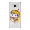 """Чехол для Samsung Galaxy S8, объёмная печать """"Без ума от цветов"""" - любовь, девушка, цветы, сердца, блондинка"""