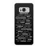 """Чехол для Samsung Galaxy S8, объёмная печать """"Манта для настоящих мужчин (черный вариант)"""" - праздник, мужчина, подарок, пожелания, мантра"""