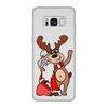 """Чехол для Samsung Galaxy S8, объёмная печать """"Дед мороз с оленем"""" - праздник, новый год, радость, дед мороз, олень"""