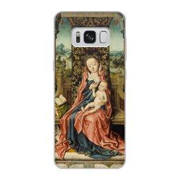 "Чехол для Samsung Galaxy S8, объёмная печать ""Мадонна с младенцем на троне (Альберт Баутс)"" - картина, живопись, возрождение, баутс"