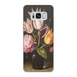 """Чехол для Samsung Galaxy S8, объёмная печать """"Букет из тюльпанов, роз, клевера, и цикламен"""" - цветы, картина, босхарт"""
