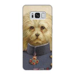 """Чехол для Samsung Galaxy S8, объёмная печать """"Болонка"""" - арт, собака, болонка"""