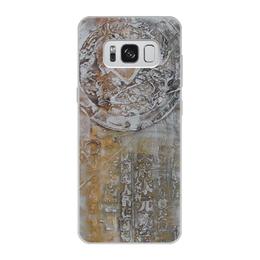 """Чехол для Samsung Galaxy S8, объёмная печать """"Знаки"""" - арт, картина, фактурный, 14фев"""