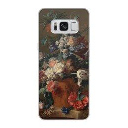 "Чехол для Samsung Galaxy S8, объёмная печать ""Ваза с цветами (Ян ван Хёйсум)"" - цветы, картина, живопись, натюрморт, ян ван хёйсум"
