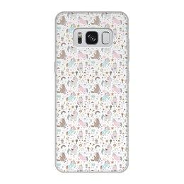 """Чехол для Samsung Galaxy S8, объёмная печать """"Единороги"""" - животные, лошадь, радуга, мульт, единорог"""