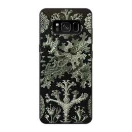 """Чехол для Samsung Galaxy S8, объёмная печать """"Лишайники Эрнста Геккеля"""" - хэллоуин, черно-белый, стильный, эрнст геккель, лишайники"""