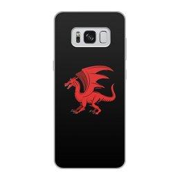 """Чехол для Samsung Galaxy S8, объёмная печать """"дракон"""" - крылья, животные, дракон, dragon, динозавр"""