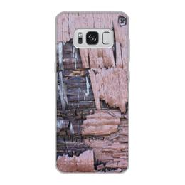 """Чехол для Samsung Galaxy S8, объёмная печать """"Деревянный"""" - оригинальный, деревянный, амбарная доска"""