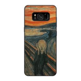 """Чехол для Samsung Galaxy S8, объёмная печать """"Крик (картина Мунка)"""" - картина, мунк"""