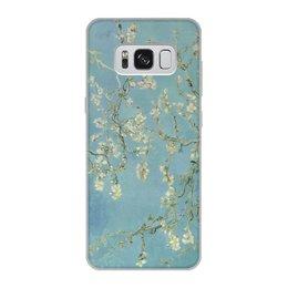 "Чехол для Samsung Galaxy S8, объёмная печать ""Цветы миндаля (Ван Гог)"" - картина, ван гог"