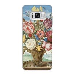 """Чехол для Samsung Galaxy S8, объёмная печать """"Букет цветов на полке (Амброзиус Босхарт)"""" - цветы, картина, живопись, натюрморт, босхарт"""