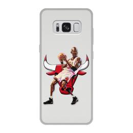 """Чехол для Samsung Galaxy S8, объёмная печать """"Michael Jordan Cartooney"""" - 23, чикаго, бык, chicago bulls, джордан"""